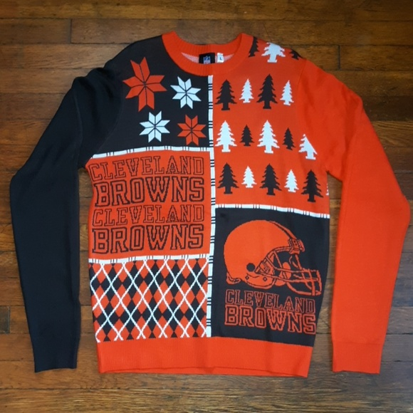 Cleveland Browns Christmas Sweater.Cleveland Browns Sweater Ugly Christmas Sweater